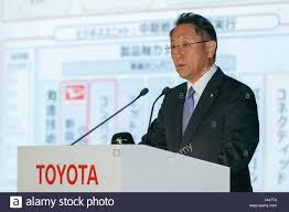 toyota motor corporation tokyo japan 10th may 2017 toyota motor corp president and ceo