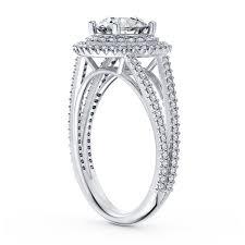ring setting 35ctw split shank halo diamond engagement ring setting in platinum