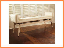 Livingroom Bench by Living Room Simple Modern Contemporary Home Furniture Of Upholstered Bench Designed With Tapered Light Brown Wooden Legs On The Brown Parquet Floor Nice