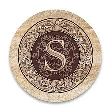 monogram letter s monogram letter s coasters set of 4 bed bath beyond