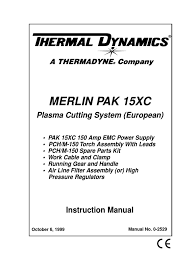 merlin pak 15xc european instruction manual electric arc switch