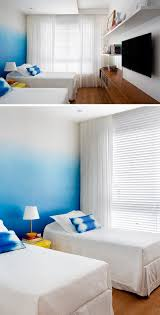 bedroom design ideas create an ombre wall for a colorful accent