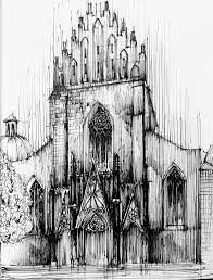 8 architecture sketches made by mikołaj kusior on behance