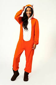fox orange womens hooded onesie 50 onesies for adults snug