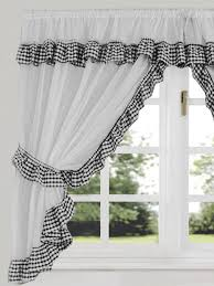 Black And White Checkered Curtains Lovable Checkered Kitchen Curtains Decorating With Gingham Check