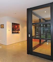 Sustainable Home Design Plans by 3 Glass Cubed Volumes Sheltered Under Roof Define Sustainable Home
