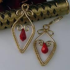 wire earrings heart woven wire earrings avadesigns on artfire