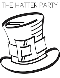 the hatter party in mad hatter coloring page the hatter party in