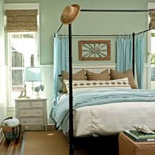 Coastal Bed Frame Coastal Bedroom Like The Burlap Texture With Pale Blue Not A