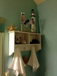 bathroom ideas white stained wooden bathroom wall shelf with sea