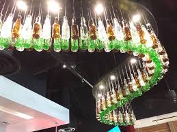 beer bottle light fixture beer bottle lighting fixture above the bar yelp