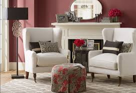 Wingback Chair Ottoman Design Ideas Furniture Wingback Chairs With Cushions And Ottoman Plus White