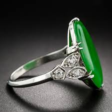 platinum vintage rings images Vintage jade platinum diamond ring jpg
