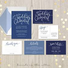 Navy Blue Wedding Invitations Printable Wedding Invitation Sets Browse Collection