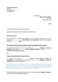 association loi 1901 bureau lettre de démission du trésorier d une association de loi 1901