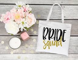 bridesmaids gift bags squad custom tote bags squad trendy bridal party