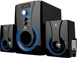 home theater in flipkart buy zebronics 2 1 multimedia sw2490 rucf home audio speaker online