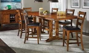 Extendable Bar Table Bar Height Table And Chairs 7 Counter Height Dining Set With