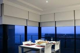Blinds For Angled Windows - roller blinds pictures angled roomset of a semi opaque linene