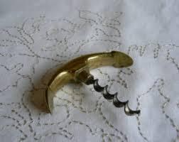 solid brass ls antique brass corkscrew etsy