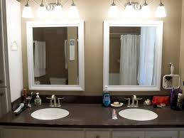 bathroom white framed vanity mirror bathroom cabinets with