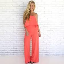 wide leg jumpsuit pop of coral wide leg jumpsuit dainty hooligan boutique