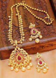 ruby necklace set images Lovely designer cz ruby necklace set handmade sets jpg