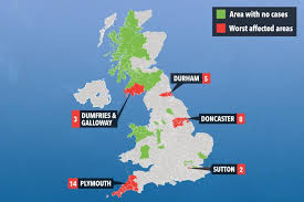 map uk map reveals uk areas worst hit by aussie flu as 17 victims fight
