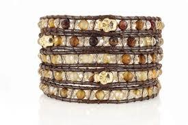swarovski crystal leather bracelet images Five 5x wrap beads leather bracelets swarovski crystals beautiz jpg