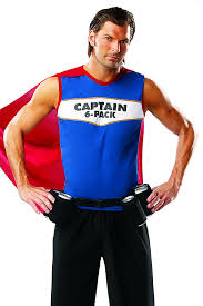 Pack Halloween Costume Halloween Supplies Captain 6 Pack Costume