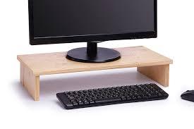 Computer Desk Accessories Wooden Monitor Stand Handmade Wooden Desk Accessories Xylart