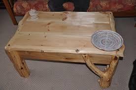 log coffee table diy