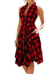 casual dress casual dresses l sleeveless plaid handkerchief shirt dress