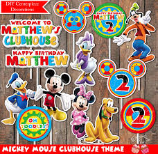 mickey mouse clubhouse centerpieces digital mickey mouse clubhouse theme happy birthday