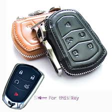 cadillac cts remote leather car key fob cover for cadillac cts ats l5 smart