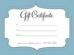 printable gift card best photos of gift card template gift certificate template