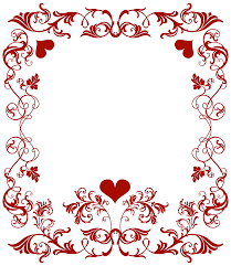 valentine u0027s day decorative border transparent png clip art image
