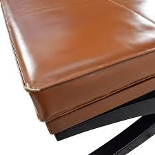 Wood Ottomans 90 Large Klismos Leather And Wood Ottoman Storage