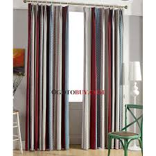 colorful striped curtains chenille fabric simple energy saving