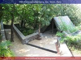 tent platform ymca international camp site nilshi pune plinth platform for the
