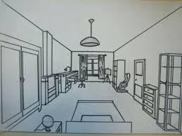 dessiner une chambre en perspective dessin chambre en perspective dessin de chambre fille stunning