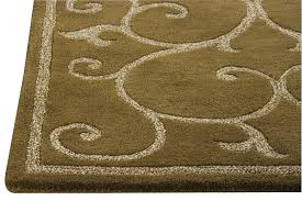Area Rug Mat Collection Tufted Wool Area Rug In Olive Design By Circle