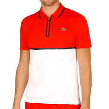 polo lacoste tennis blanc jpg lacoste sleeved ribbed collar polo white buy