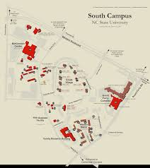 North Carolina State Map by North Carolina State University Campus Map