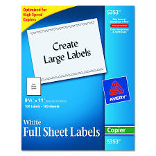 amazon com avery full sheet labels for copiers 8 1 2