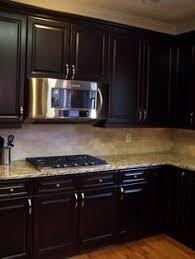 Upgraded Kitchen Espresso Dark Stained Cabinets Added Hardware - Espresso kitchen cabinets