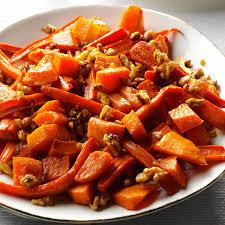 roasted squash carrots walnuts recipe taste of home