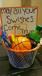 i made this gift basket for my boyfriends first basketball game of