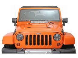 jeep jk hood led light bar 22 straight led light bar with jeep wrangler tj hood mounts my