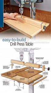 Diy Drill Press Table by Extendable Drill Press Table Plan Drill Press Tips Jigs And